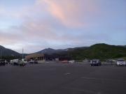 鉾立駐車場から眺める早朝の鳥海山頂