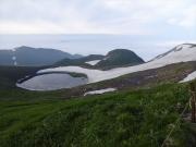 鳥海湖と雲海