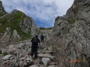 登り道で一時的に晴れ間が見えた