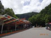 しらび平駅から山頂側を眺望