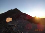北岳と朝日