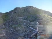 北岳への最後のガレ場登り