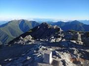 北岳山頂から仙丈ヶ岳、甲斐駒ヶ岳眺望