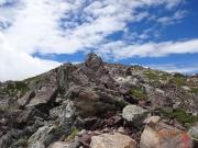 悪沢岳への最後の登り