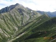 赤石岳と荒川小屋