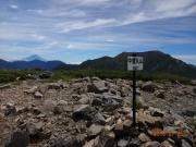 中盛丸山から聖岳方面と富士山眺望