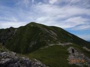 兎岳への縦走路
