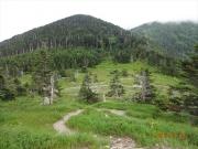 聖平小屋と上河内岳の分岐地点