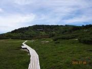 光岳・光小屋に向かうセンジガ原の木道