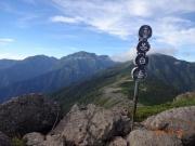 茶臼岳から上河内、聖、赤石を眺望