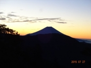 当日朝4時半キャンプ地から富士山