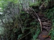 とても古びた木橋もある。慎重に