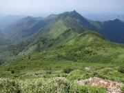 沖武尊から剣ヶ峰への縦走路