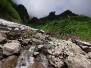 荒菅沢の雪渓