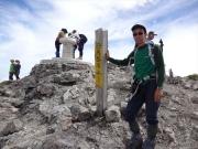 白馬岳山頂で記念撮影