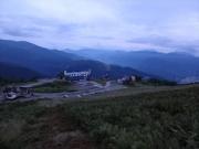 早朝登山開始後に黒菱を見下ろす