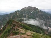 五竜岳への縦走路