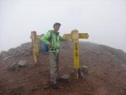 鹿島槍ヶ岳山頂で記念写真