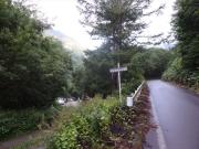駐車場から常念岳登山口への道