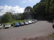 新中ノ湯登山口の路肩駐車帯