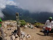 焼岳山頂から梓川・上高地方面を眺望