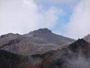御嶽山頂を眺望