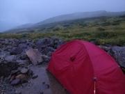 夜明けのテント場