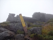 昼にワリモ岳に着、休憩不可能で先に進む