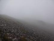 鷲羽岳への道、写真撮影も一苦労
