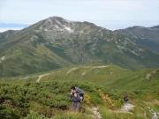 三俣蓮華岳から黒部五郎岳への縦走路