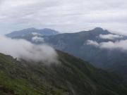 農鳥岳手前から塩見岳方面眺望