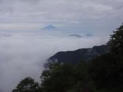 下山道から富士山眺望