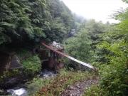奈良田手前の吊り橋