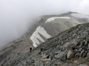 別山へ向かう縦走路