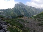 剣沢野営場と剱岳