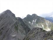 穂高岳山荘から涸沢岳・北穂への稜線