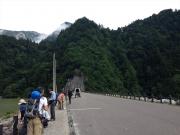 高瀬ダム登山口から出発