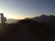 樅沢岳山頂から見る槍ヶ岳