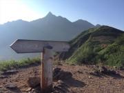 左俣乗越から見た槍ヶ岳