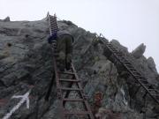山頂直下最後の鉄梯子登り