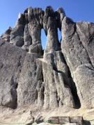 途中に現れた「めがね岩」