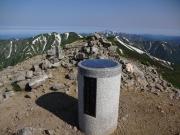大朝日岳山頂から北方面を眺望