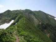 前朳差岳から朳差岳への道