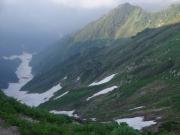 石転び沢の雪渓