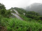 東鉢山七曲りというジグザグ道を登る