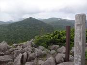 烏帽子山から昭元山、東大巓を振り返る