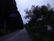 馬場島まで6km地点ではライト点灯