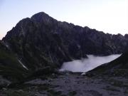 夜明け直前の剱岳