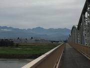常願寺大橋から剱岳・立山の稜線を遠望