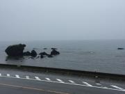 トットコ岩と日本海